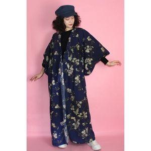 VTG Boho Blue Patterned Kimono